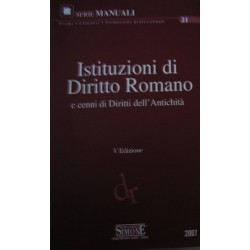 Istituzioni di diritto romano - a cura di Federico Del Giudice