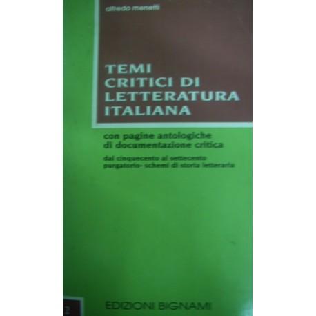 Temi critici di letteratura italiana vol.2 - Alfredo Menetti